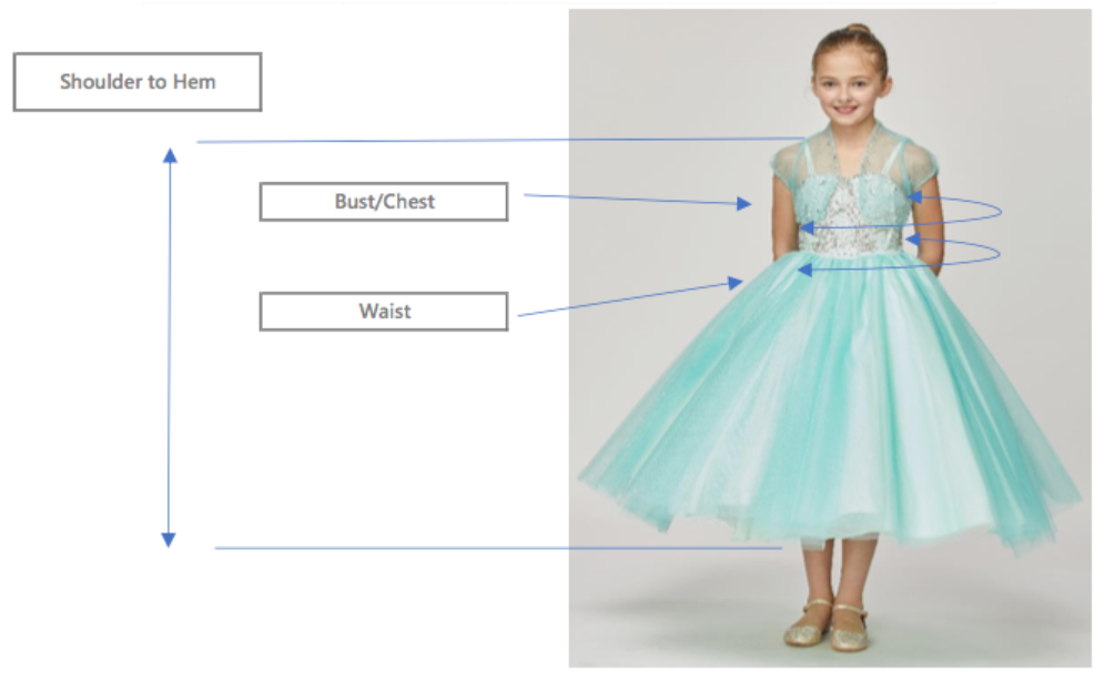 Kids Formal Flower Girl Dress 9093B